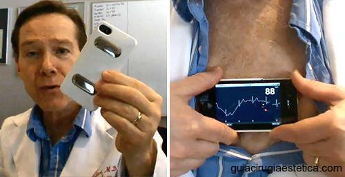 Aplicación Médica iPhone Electrocardiógrafo ECG AliveCor