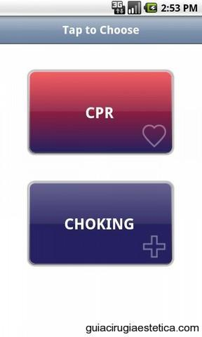 Pantalla de móvil con CPR Choking para Android