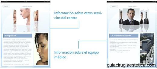 TWINIA: otros servicios, publicidad, equipo mdico (staff), planes financiacin, entre otros.
