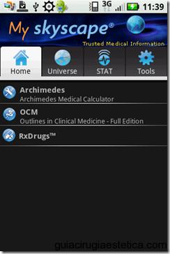SkyScape - Aplicación médica para Android