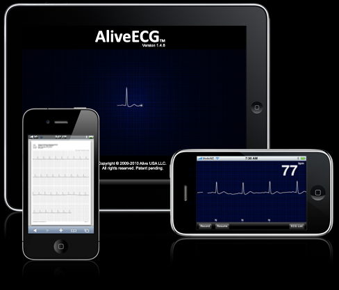 Electrocardiógrafo iPhone ECG - AliveECG