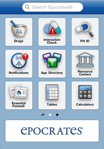 Epocrates - mejores aplicaciones medicas iphone