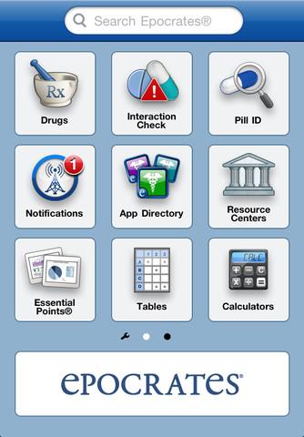 Epocrates - mejores aplicaciones medicas iphone