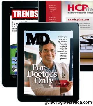 Imágenes de iPad con la revista médica MD