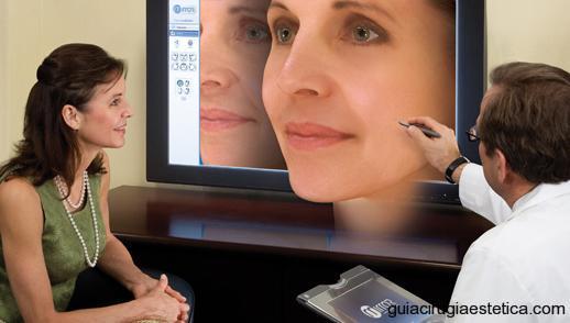 Imagenes preoperatorias de una cirugía facial de nariz, rinoplastia