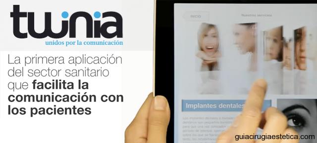Twinia aplicación médica iPad de comunicación y márketing
