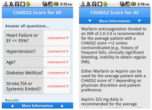 Aplicaciones Médicas para Android - Calculate QxMD