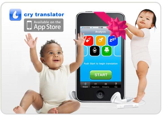 """Para los bebés ¡Llorar es Comunicarse! Cry Translator """"La aplicación de iPhone para entender el llanto del bebé"""""""