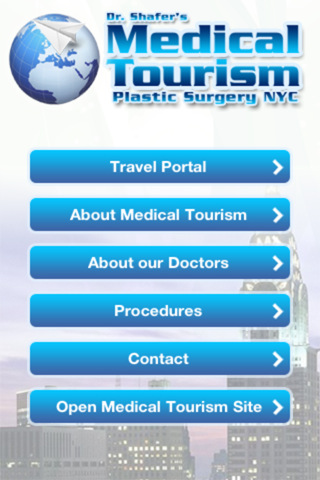 La App Medical Tourism NYC estça disponible para Android, iPhone, iPad e iPod Touch