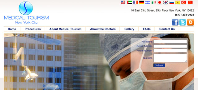 Aplicación Medical Tourism NYC - Android, iPhone, iPad.