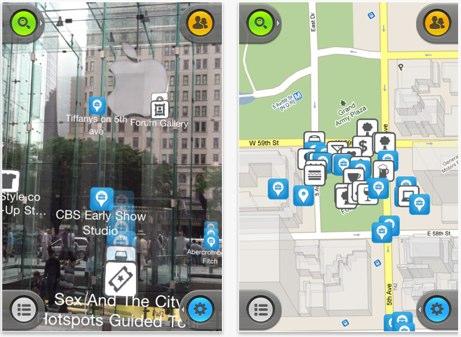 Checkin + es una aplicación de mapas 3D y 2D que combina los datos de Foursquare y Facebook Places