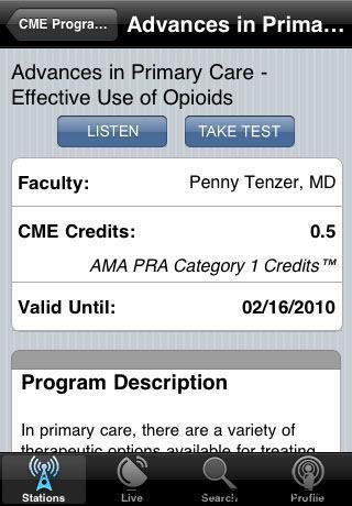 pantalla de iphone con medical app
