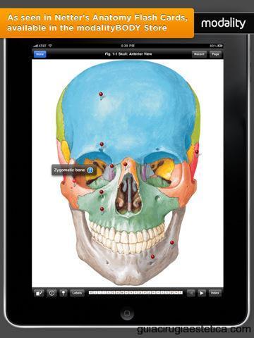 Imagen de aplicacion médica en un iPad